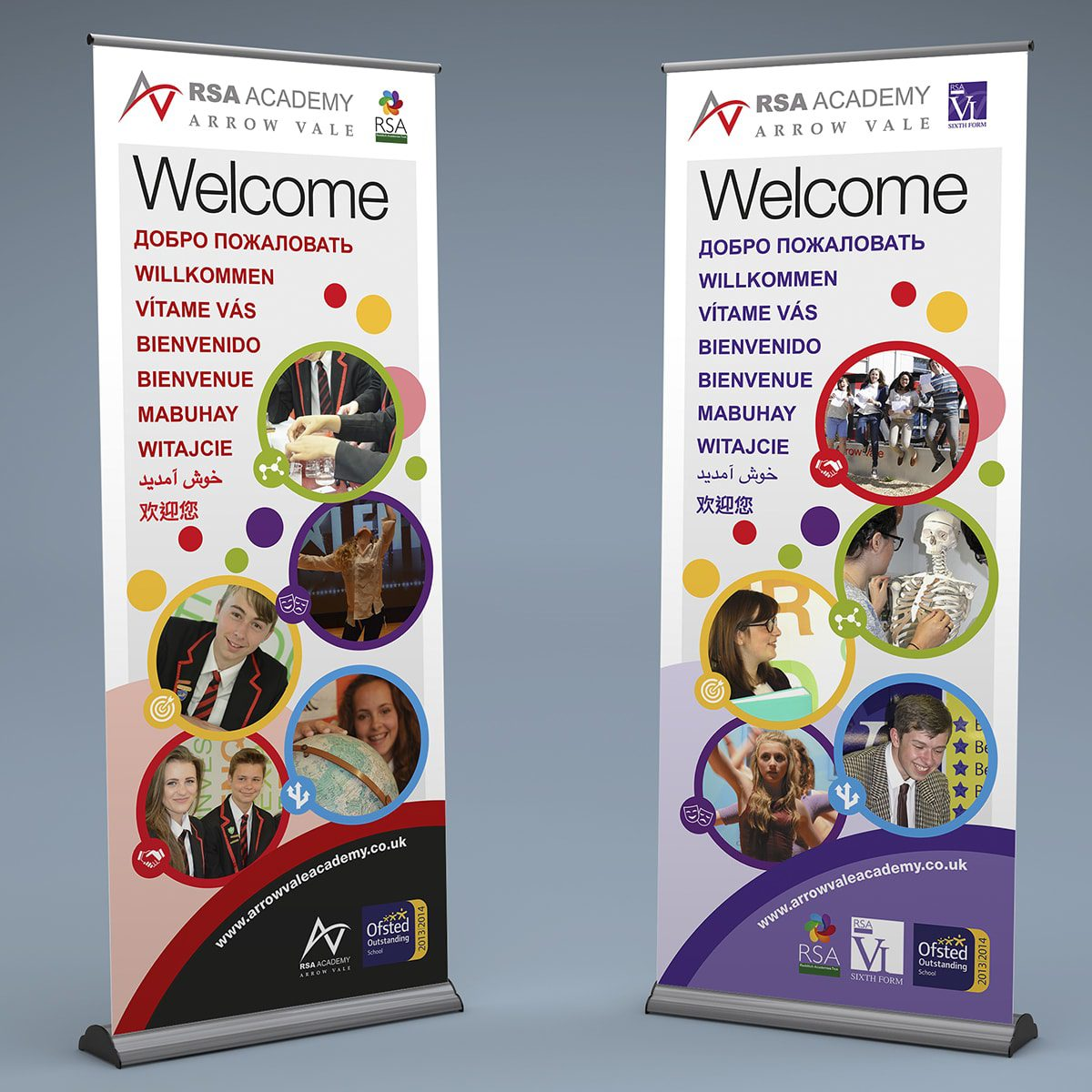 Arrow Vale Academy Banner Stands | Portfolio | Blackberry Design