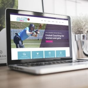 Cricket For Girls Website 2017 | Portfolio | Blackberry Design