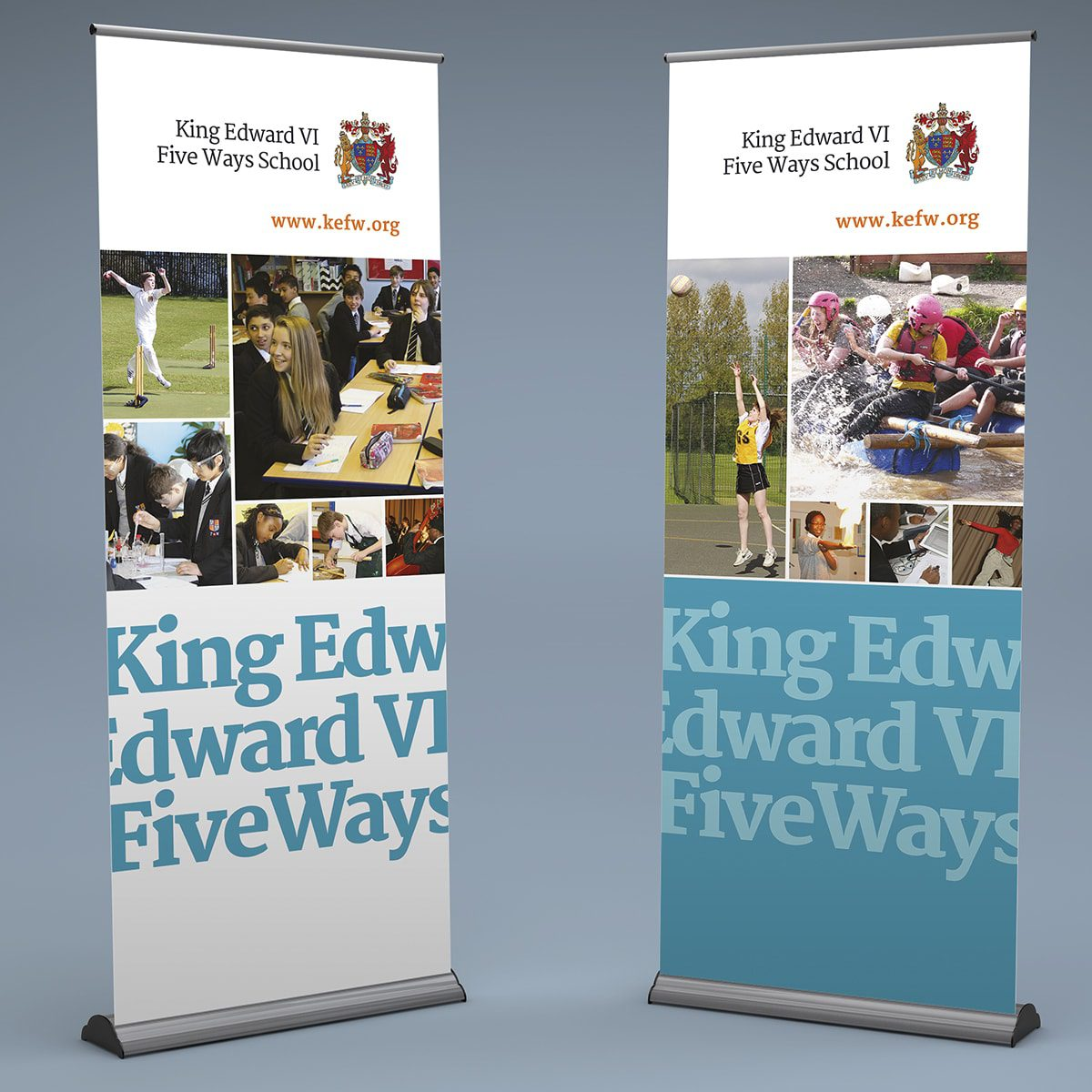 King Edwards Five Ways Banner Stands | Portfolio | Blackberry Design