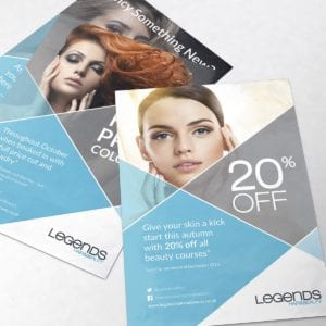 Legends Hair and Beauty Offers | Portfolio | Blackberry Design