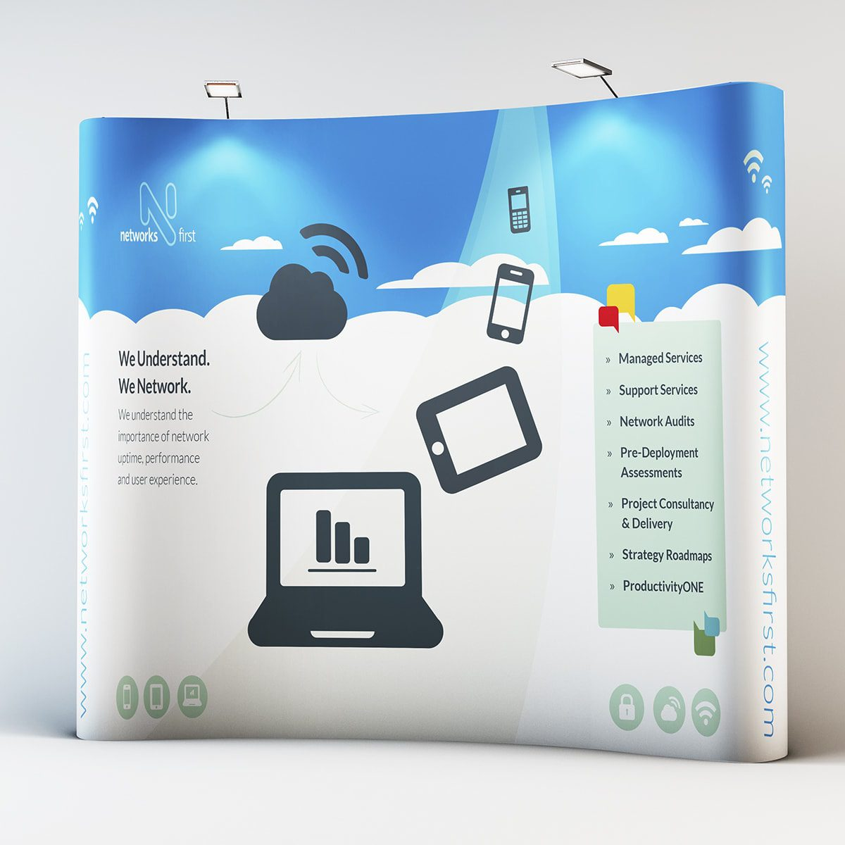 Networks First Display Stand | Portfolio | Blackberry Design