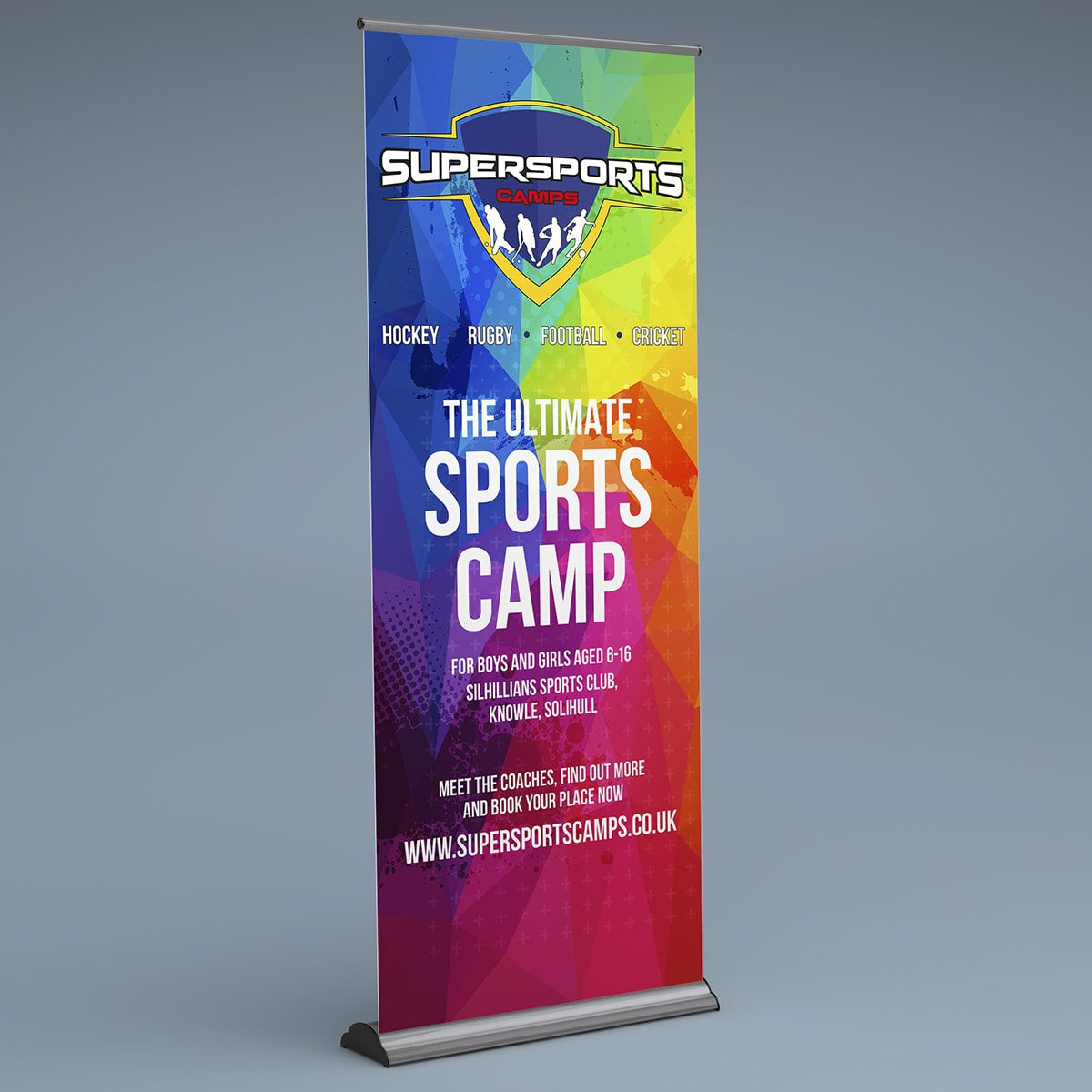 Supersports Camps Banner Stand | Portfolio | Blackberry Design