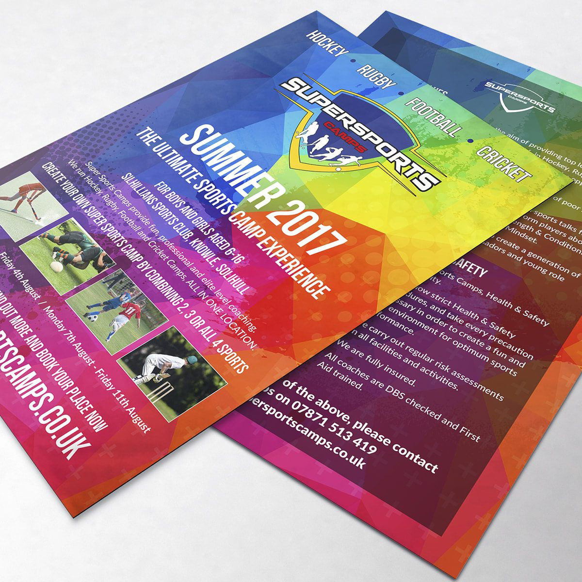 Supersports Camps Leaflet | Portfolio | Blackberry Design