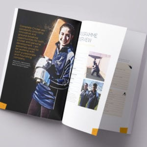 Complete Cricket College Prospectus | Portfolio | Blackberry Design