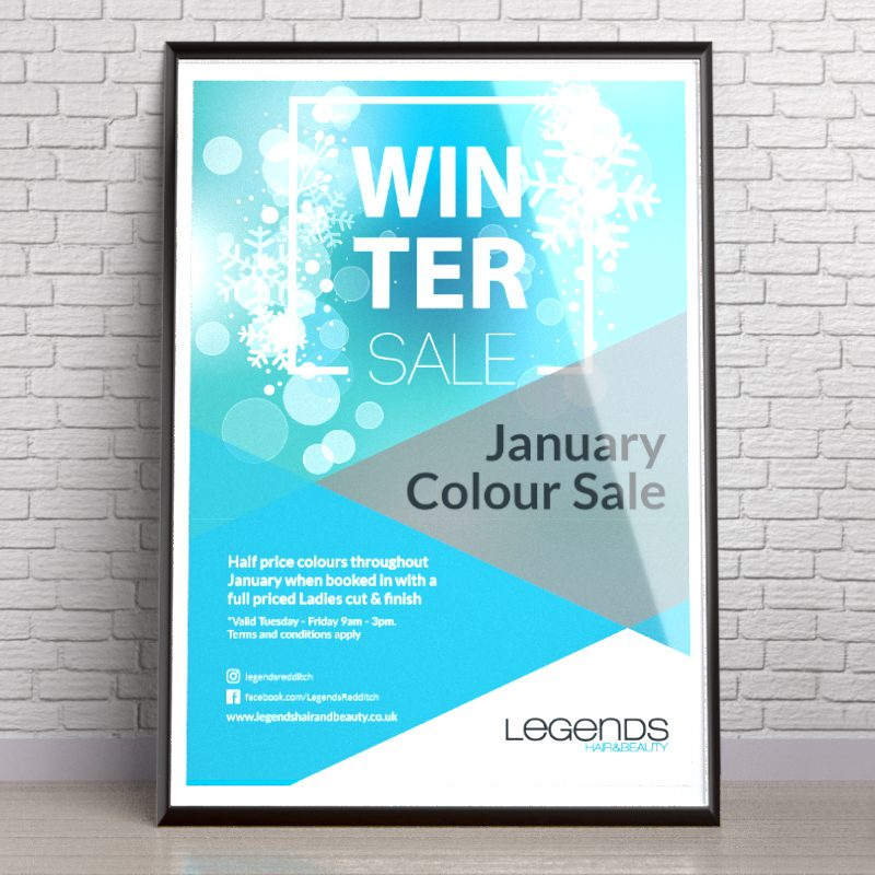 Legends Jan Sale Poster | Portfolio | Blackberry Design