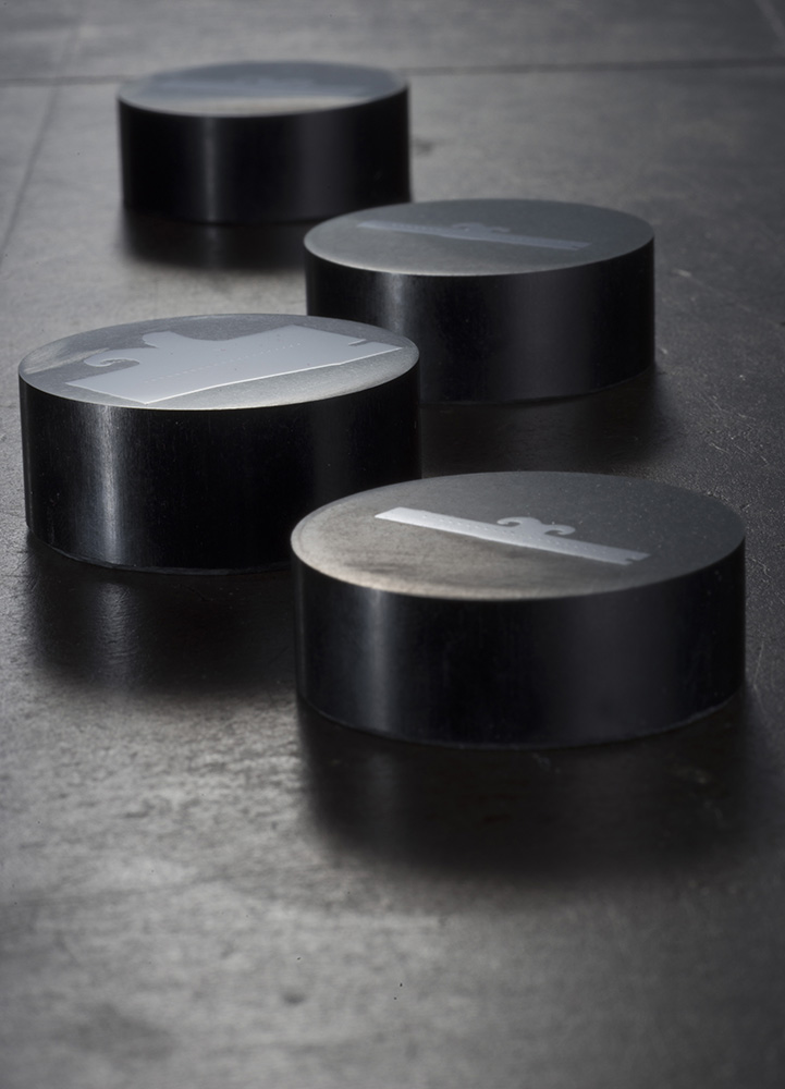 Industrial photography: Plugs of metal from the in house lab as part of quality control